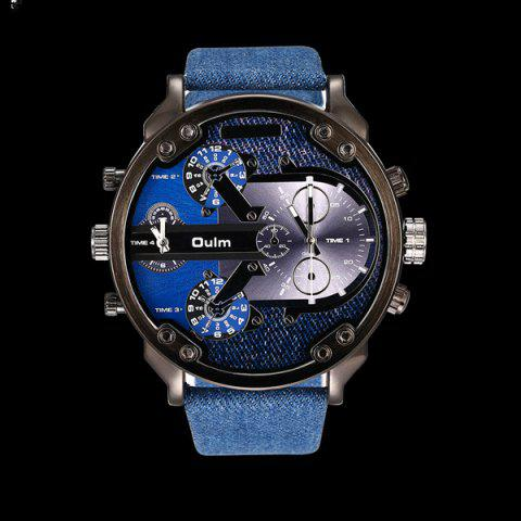 Latest Big Dial Plate Quartz Wrist Watch BLUE