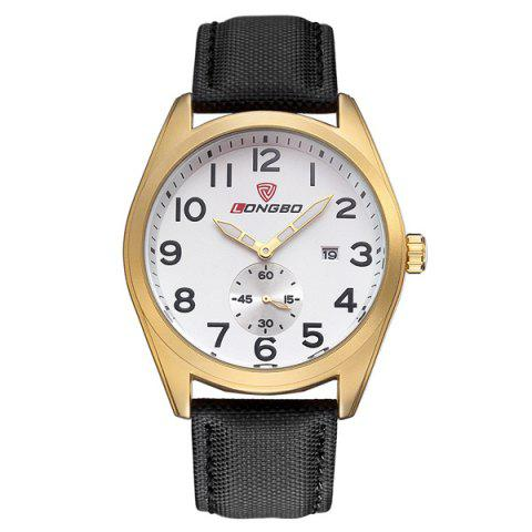 Affordable Date Waterproof Faux Leather Wrist Watch