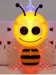 Cartoon Bee Light Control Bedside Night Light Apply to EU Plug