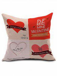 Valentine Love Heart Linen Sofa Bed Throw Pillowcase -