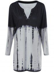 Plus Size Snake Print Ombre Tunic T-Shirt