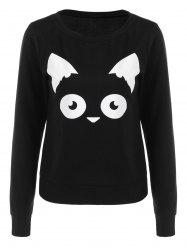 Kitten Graphic Pullover Sweatshirt