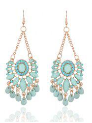 Bohemia Floral Rhinestone Drop Earrings - FRESH