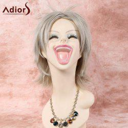 Short Straight Inclined Bang Cosplay Synthetic Wig