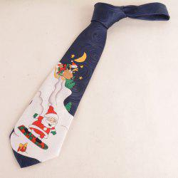 Christmas Night Scene Print Tie