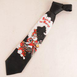 Christmas Santa Claus Ride Motorcycle Print Tie