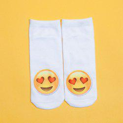 3D Heart Shaped Eyes Face Printed Emoji Socks