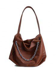 PU Leather Chains Shoulder Bag