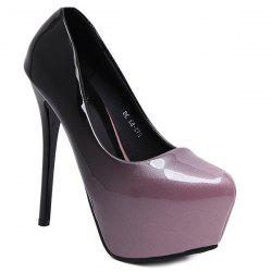 Patent Leather Ombre Platform Pumps