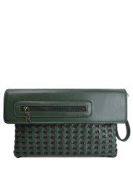 Woven Hollow Out Clutch Bag