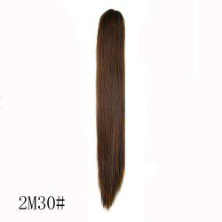 High Temperature Fiber Long Straight Ponytail