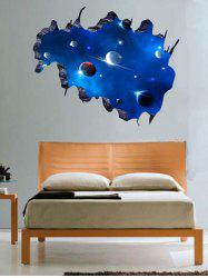 Living Room 3D Galaxy Space Planet Wall Stickers - DEEP BLUE