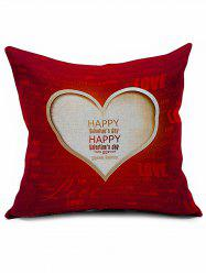 Happy Valentine Love Heart Cushion Cover Throw Pillowcase - RED