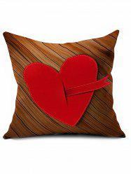 Heart Embroidered Sofa Bed Decorative Valentine Linen Pillowcase -