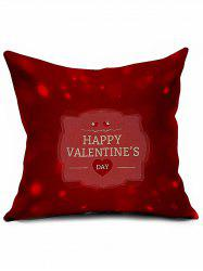 Happy Valentine's Day Cushion Cover Throw Linen Pillowcase