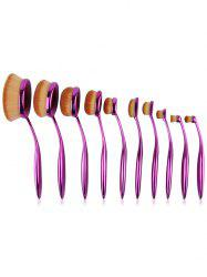10 Pcs Nylon Oval Toothbrush Artist Makeup Brushes Set - PURPLE