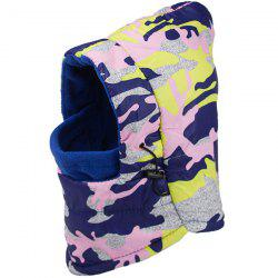 Cold Wind Protection Army Camouflage Print Face Mask Hat - PINK