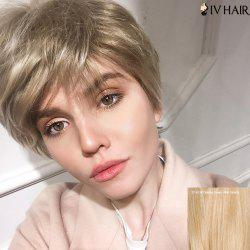Siv Stunning Human Hair Short Side Bang Straight Wig