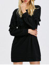 Tassel Long Sleeve Sweatshirt Dress