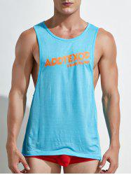 Letter Print Open Side Tank Top