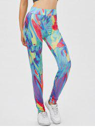 Yoga Tie Dye Running Leggings