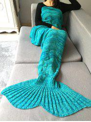 Stripy Crochet Knit Hollow Out Mermaid Blanket Throw -