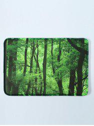 Forest Scenery Antislip Soft Absorbent Bathroom Floor Mat - GREEN