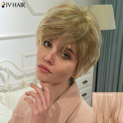 Siv Human Hair Short Side Bang Shaggy Straight Wig