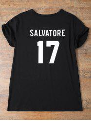Streetwear Jewel Neck Salvatore 17 Tee