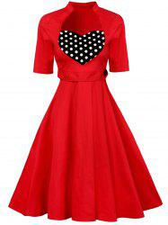 Sweetheart Neck Vintage Flare Dress