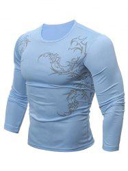 Breathable Tattoo T-Shirt - BLUE