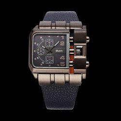 Vintage Artificial Leather Watchband Quartz Watch