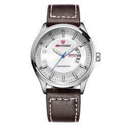 Waterproof Faux Leather Analog Date Watch