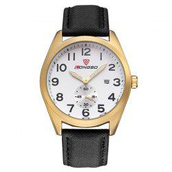 Date Waterproof Faux Leather Wrist Watch