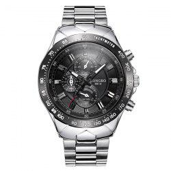 Waterproof Tachymeter Metal Quartz Watch