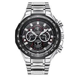 Waterproof Tachymeter Metal Analog Watch