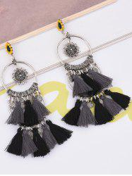 Tassel Sunflower Round Drop Earrings