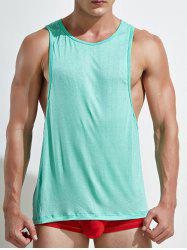 Racerback Open Side Plain Tank Top