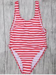 Striped High Leg Swimsuit -