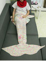 Knitting Comfortable Sofa Mermaid Blanket and Neckerchief -