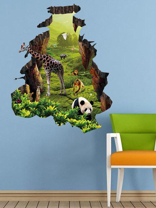 2019 removable jungle 3d animal nature landscape living room wall
