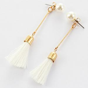 Faux Pearl Tassel Ear Jackets