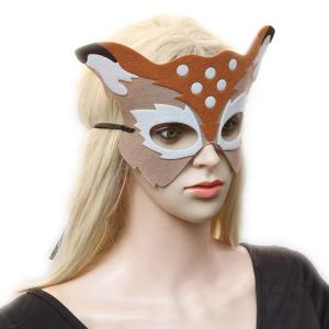 Elk Hollow Out Masquerade Party Mask - LIGHT KHAKI
