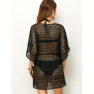 Openwork See Thru Beach Tunic Cover Up -