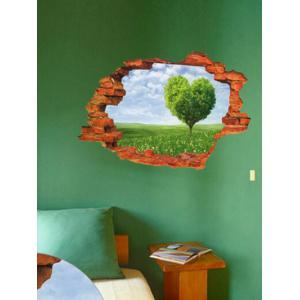 Broken Wall 3D Tree Wall Stickers For Living Room Decoration - Colormix