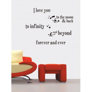 I Love You Proverb Vinyl Wall Stickers Custom For Living Room - Black