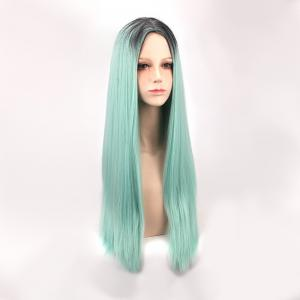 Long Middle Part Straight Colormix Synthetic Cosplay Anime Wig -
