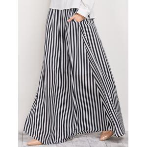 High Waisted Striped Maxi Skirt