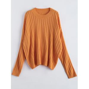 Ribbed Oversized Knit Sweater Jumper