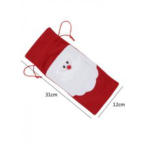 Christmas Supplies Table Decoration Santa Claus Wine Bottle Cover Bag -
